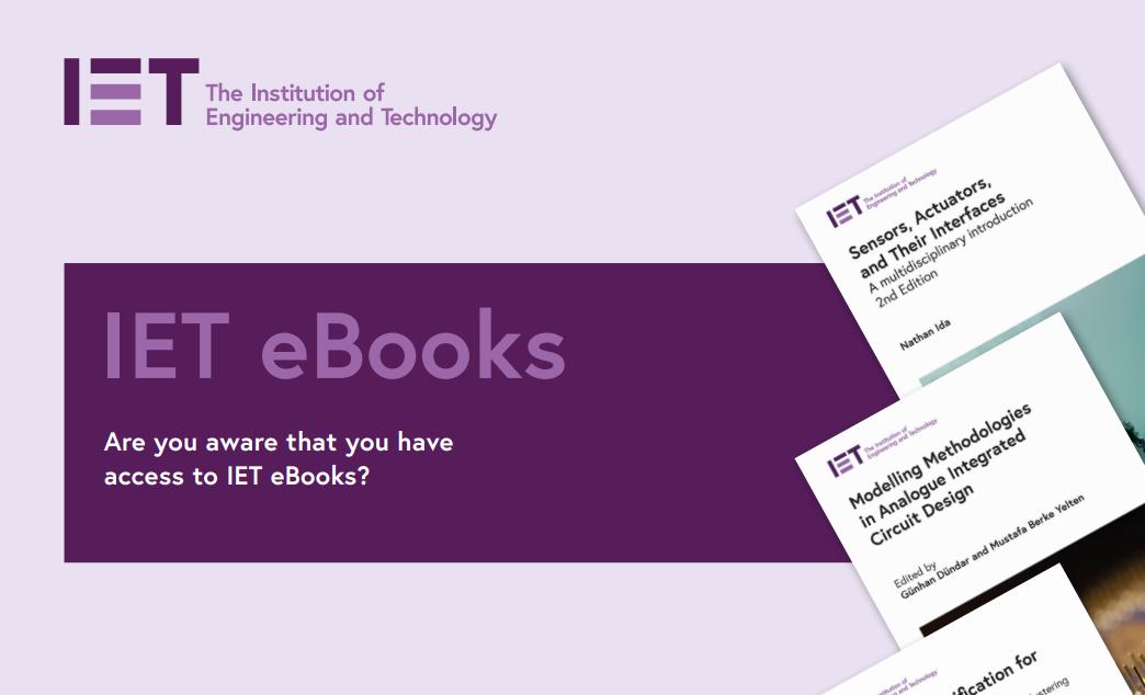 New added e-books - IET eBooks