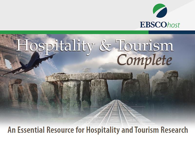新增試用電子資料庫: Hospitality and Tourism Complete