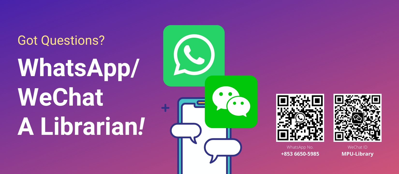 WhatsApp / WeChat a Librarian