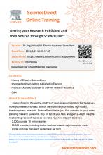 Getting your Research Published and then Noticed through ScienceDirect (English Session)